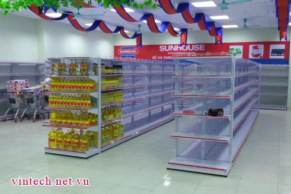 Cung cấp kệ siêu thị tại siêu thị Việt Ý khu đô thị Kim Văn Kim Lũ Hà Nội