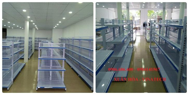 Lắp đặt giá kệ cho siêu thị Hân Hân - Tân Phú, Đồng Nai