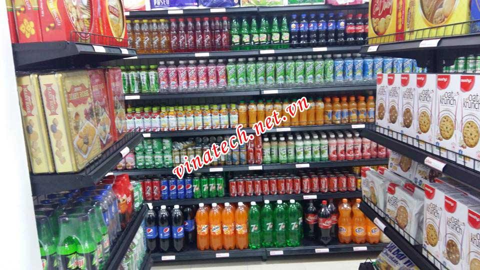 Lắp đặt giá kệ cho chuỗi siêu thị mini tại Hà nội