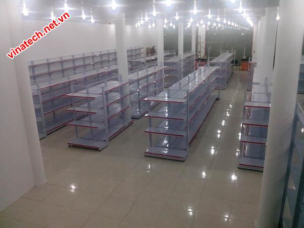 Triển khai kệ siêu thị tại siêu thị Cẩm Châu Cẩm Thủy Thanh Hóa