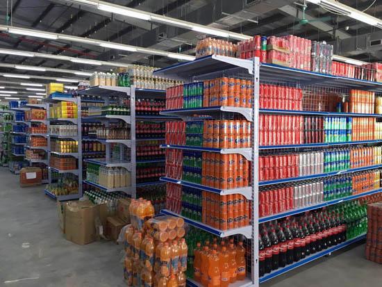Lắp đặt kệ siêu thị tại siêu thị Huy Hùng, Yên Phong, Bắc Ninh