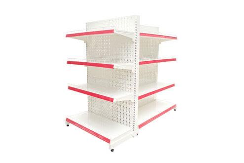 Đầu kệ siêu thị có nhiều hình dạng khác nhau: hình chữ nhật, hình tròn giúp tiết kiệm không gian và thêm thẩm mỹ.