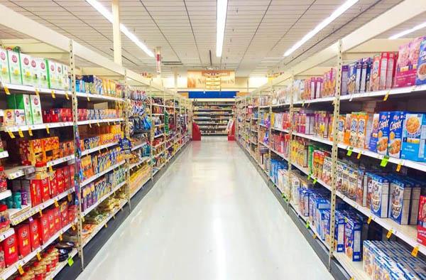 Mẫu kệ bày hàng tạp hóa, siêu thị đẹp, giá rẻ