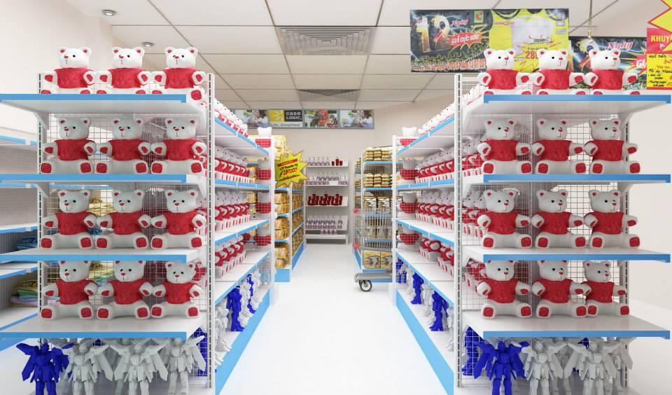 Vinatech phân phối giá kệ siêu thị trên toàn quốc