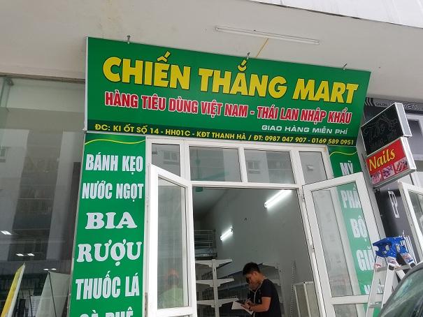 Lắp đặt siêu thị Chiến Thắng Mart tại Hà Đông - Hà Nội
