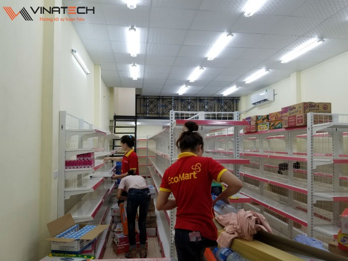 Lắp đặt siêu thị mini cho anh Quang tại Long Biên, Hà Nội