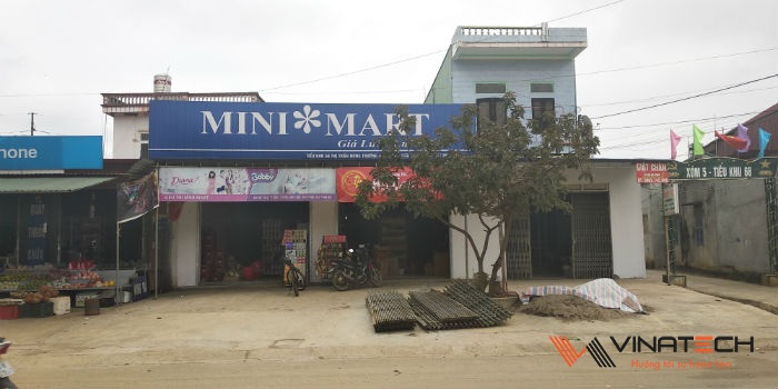 Lắp đặt mini mart cho anh Lâm tại Mộc Châu, Sơn La
