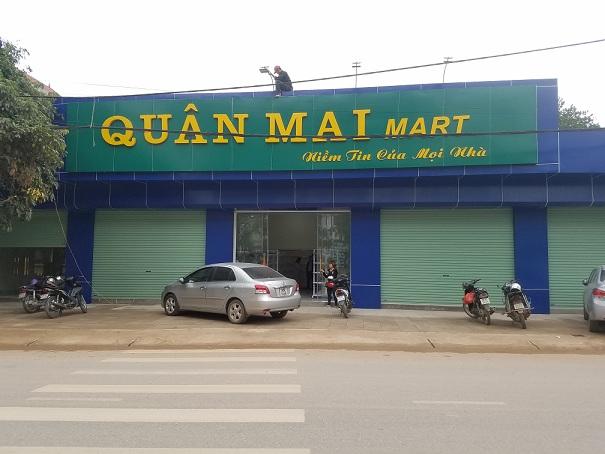 Lắp đặt giá kệ để hàng siêu thị tại Lập Thạch - Vĩnh Phúc