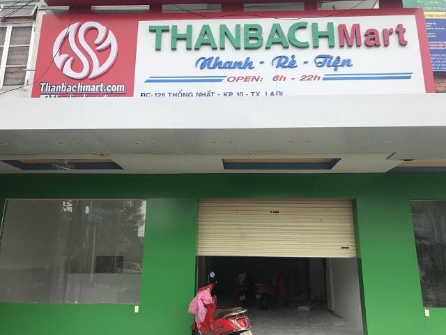 Hoàn thiện lắp đặt kệ để hàng tại siêu thị THANBACH Mart