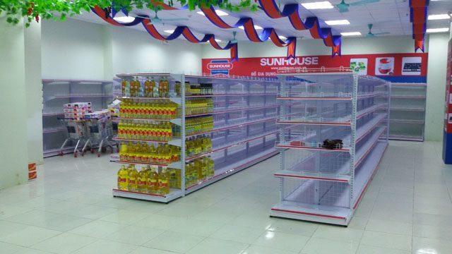 Những ưu điểm của kệ siêu thị do vinatech sản xuất